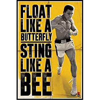 1art1 43384 Muhammad Ali - Float Like A Butterfly Poster (91 x 61 cm)
