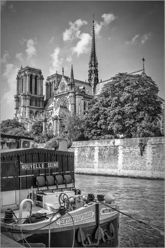 Posterlounge Acrylglasbild 40 x 60 cm: Kathedrale Notre-Dame de Paris an der Seine von Melanie Viola - Wandbild, Acryl Glasbild, Druck auf Acryl Glas Bild
