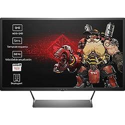 """HP OMEN 32 - Monitor Gaming de 32"""" WVA+ (2560 x 1440 a 60 Hz), Color Negro"""