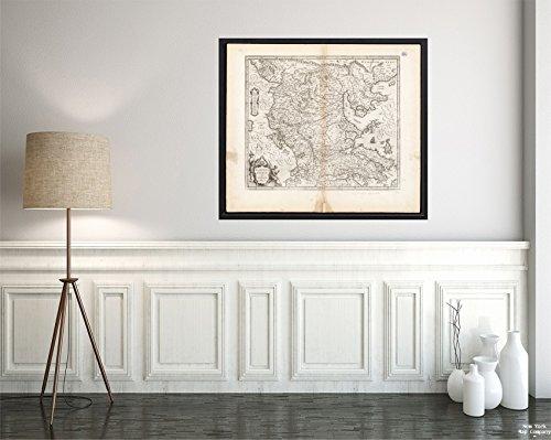 New York Karte Company (TM) 1659-1672Karte Mazedonien (Ancient) (ehemaligen Primary politischen Entity)  Greece Peloponnese Achaea  Vintage Fine Art Reproduction Ready Zum Rahmen