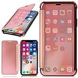 MoEx iPhone X | Hülle Transparent TPU [OneFlow Void Cover] Dünne Schutzhülle Rosé-Gold Handyhülle für iPhone X Case Ultra-Slim Handy-Tasche mit Sicht-Fenster