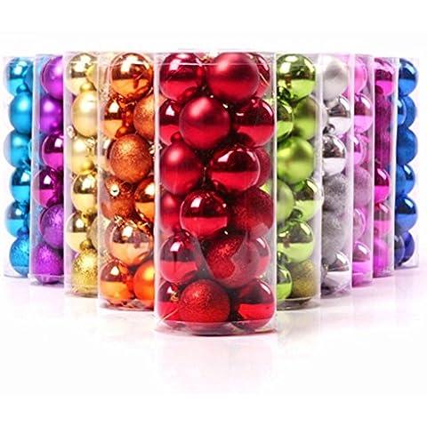 Tinksky Bolas de Navidad Bolas para árbol Bola de la decoración exquisita boda Fiesta Navidad bolas adornos árbol