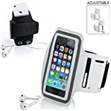 "FAMEWORLD Sports Running Jogging Gym Armband Case Cover Holder Compitbale For All Smart Phones Till 5.5"" Inch Iphone 6 Plus , Samsung Note 3"