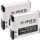 2x Batería DMW-BCM13 para Panasonic Lumix DMC-FT5 / TZ55, TZ60, TZ61 / ZS35, ZS40... ver lista!
