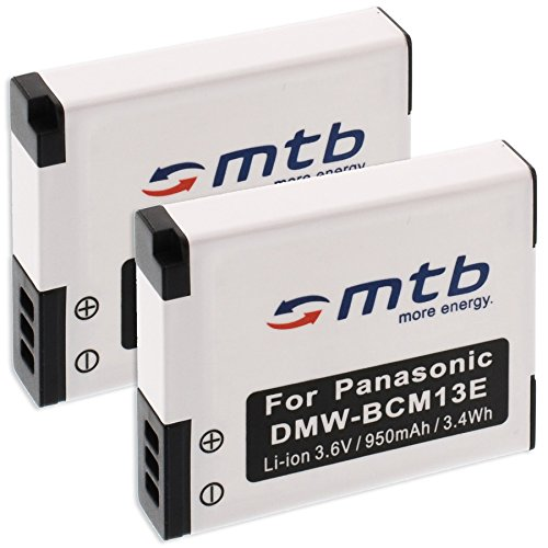 2x Akkus BCM13Für Panasonic Lumix DMC FT5/TZ55Digitalkamera, TZ60, TZ61/ZS35, ZS40. siehe Liste.