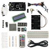 SainSmart Mega2560 R3 ATmega2560-16AU + LCD1602 Starter Kit mit über 16 Basic Arduino Tutorial Projekts für Arduino Anfänger