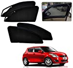 Autopearl Premium Quality Zipper Magnetic Sun Shades Car Curtain for Maruti Swift New (Set of 4).
