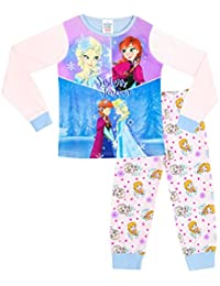 Disney Frozen - Ensemble De Pyjamas - La Reine Des Neiges Anna a Elsa - Fille
