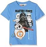 FABTASTICS Jungen T-Shirt LEGO STAR WARS, Blau (Blau Blau), 140