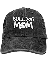 Walnut Cake Hüte,Kappen Mützen Sports Denim Cap Bulldog Mom-1 Men Golf Hats Adjustable Plain Cap