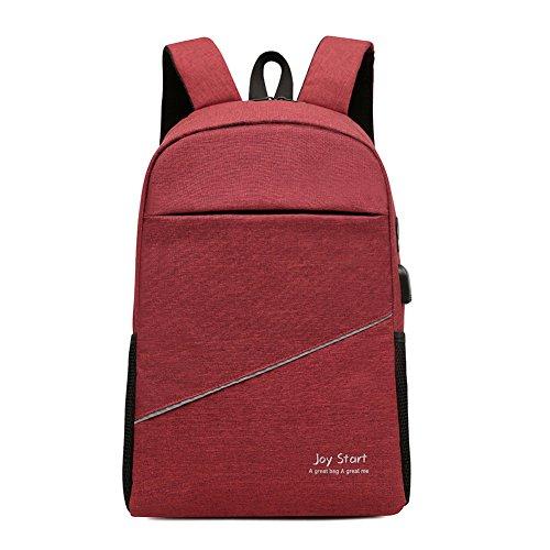 DSJJ Unisex Multiuso Zaino con porta USB, Zaino Per PC Portatile da uomo borsa universitaria daypack Per La Scuola Scuola,Business
