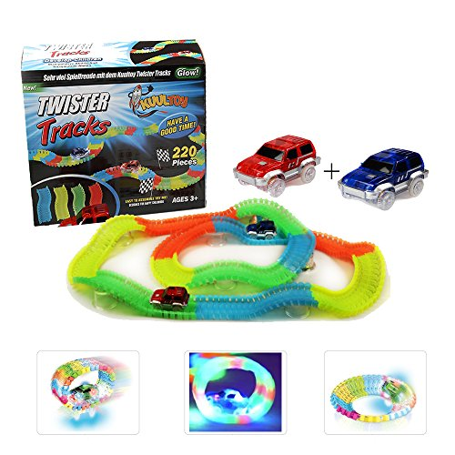 Tracks Magiques Circuit de Voiture Flexible, Kuultoy Track Car Magic avec Design...