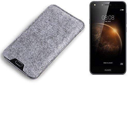 K-S-Trade® para Huawei Y6 II Compact Estuche protecto Case para móvil Fieltro sintió Funda de Manga Cubierta Protectora Bolsa de protección del teléfono móvil Gris para Huawei Y6 II Compact