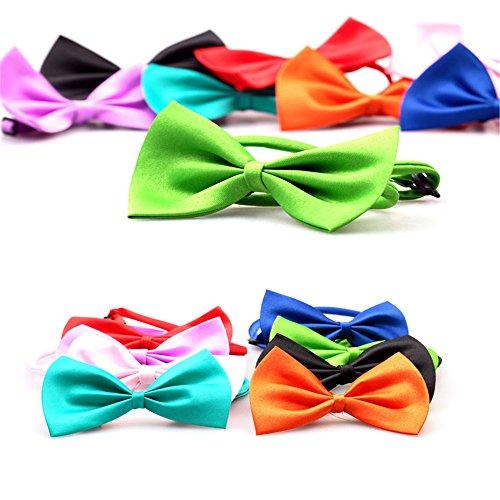 Zufällige Farbe Niedliche Süße Mini Beugen Bindung Krawatte Halsband für Haustier Hund Katze