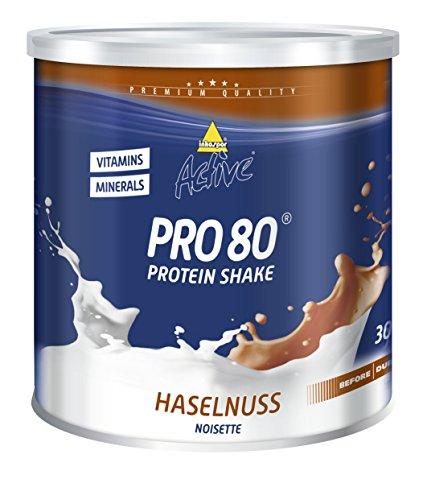 Inkospor Active Pro 80 Protein Shake, Haselnuss, 750g Dose