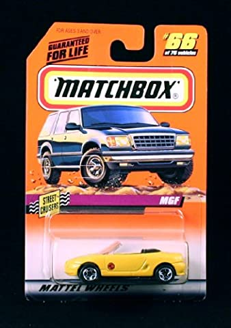 MGF * YELLOW * Street Cruisers Series 10 MATCHBOX 1998 Basic Die-Cast Vehicle (#66 of 75) by Matchbox