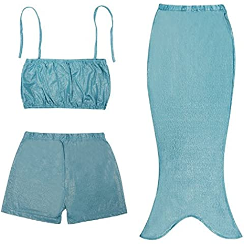Ragazze balneabile Mermaid Tails costume operato mare-domestica parte superiore del