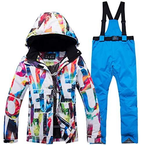 FELICIG Cazadora de esquí y pantalón de Snow para Mujer, Impermeable y Resistente al Viento (Color : 01, Size : L)