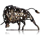 TOOARTS - Escultura Metálica Hecha a Mano - TORO - Aparato de Hierro Decorativo para la Decoración del Hogar (Obra de Artesanía)