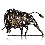 Tooarts Metall Geflochtene Rind Deko Skulptur Dekofigur Moderne Skulptur zum Dekorieren