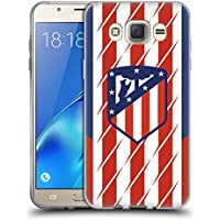 Official Atletico Madrid Home 2017/18 Crest Kit Soft Gel Case for Samsung Galaxy J7 (2016)