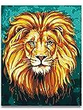 Art Mural Animaux Afrique Roi Lion Peinture Photo Par Numéros Sur Toile Coloriage Animaux Lions Photos Par Numéros 40X50Cm Noël...