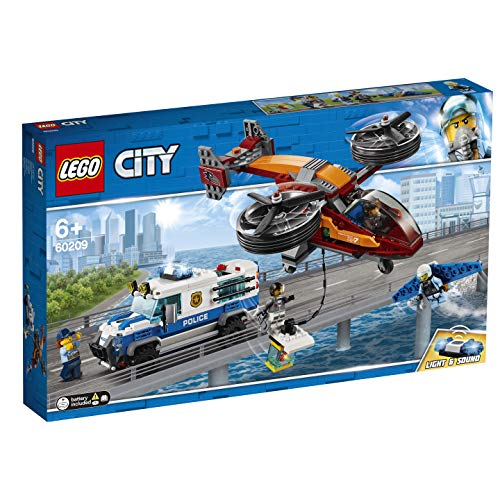 LEGO 60209 City Police Sky Police Diamond Heist Playset, Toy Helicopter and Truck, Police Toys for Kids Best Price and Cheapest