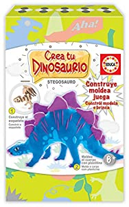 Educa Borrás-CREA y Moldea Tu Stegosaurio Actividades Creativas, Color Variado 18353