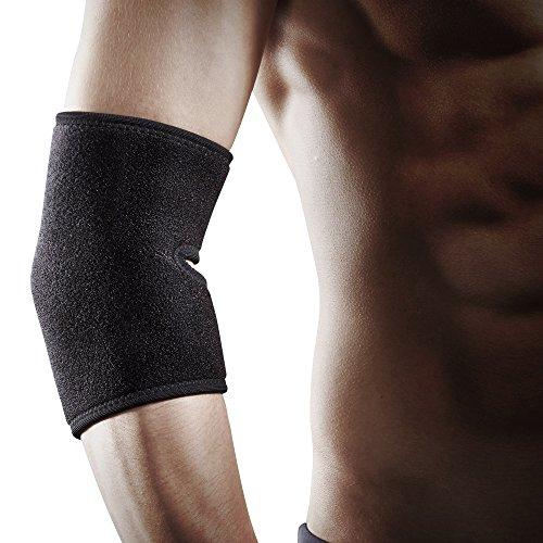 LP Support 759-KM atmungsaktive Neopren Ellenbogenbandage - Ellenbogen-Schutz für Beruf & Sport, Größe:Universalgröße, Farbe:2 x schwarz -