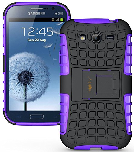 Heartly Flip Kick Stand Hard Dual Armor Hybrid Rugged Bumper Back Case Cover For Samsung Galaxy S3 S 3 i9300 - Purple  available at amazon for Rs.399