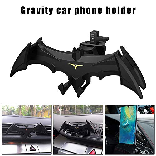 Wellouis Car Air Vent Phone Mount Bat Shape Hands Free Gravity Auto Phone Holder Cradle -