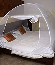 PlutoMax Mosquito Net Foldable King Size (Double Bed) (Colour May Vary, Multi-Color)