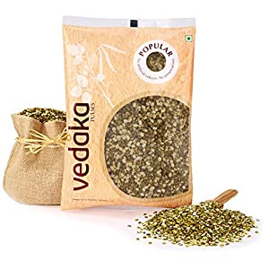 Amazon Brand – Vedaka Popular Green Moong Split / Chilka, 1 kg