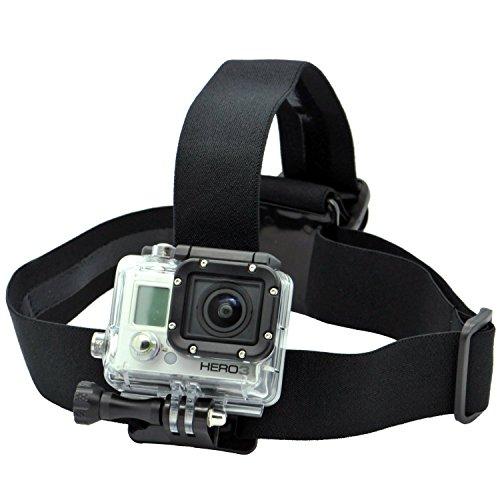O RLY Kopfband Head Strap Mount Schwarz für GoPro Hero Session / 5 Held 1 2 3 3+ 4 5 6 SJ4000 SJ5000 SJ6000 SJCAM Action Kamera