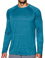 Under Armour Ua Tech Ls Novelty Tee, Maglia A Maniche Lunghe Uomo, Blu, Small