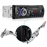LESHP 1 Din Autoradio Bluetooth Mp3 Player Auto mit Fernbedienung USB / SD+Aux+4X60W Auto Audio+Stereo FM/AM Radio+Freisprechfunktion Integriertes Mikrofon + Equalizer