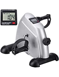 himaly Mini Exercise Bike Portable Home Pedal Exerciser Gym Fitness Leg Arm Cardio Training Adjustable Resistance with LCD Display for Women and Men