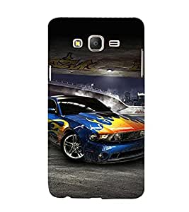 Sports Car 3D Hard Polycarbonate Designer Back Case Cover for Samsung Galaxy On7 :: Samsung Galaxy On 7 G600FY