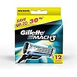 Gillette Mach 3 Manual Shaving Razor Blades - 12s Pack (Cartridge)