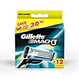 Gillette Mach3 Refill - 12 Cartridges