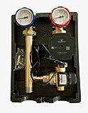 Pumpengruppe mit Mischer 20-55°C ESBE + Hocheffizienpumpe Grundfos UPM3 Hybrid 25/70 Heizkreisset