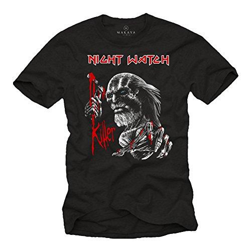 Night Watch Killer T-Shirt für Herren - Game of Thrones schwarz XL (Night Watch Game Of Thrones)