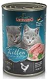 6 x 400g Leonardo Kitten reich an Geflügel Premium Katzenfutter
