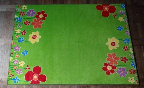 Kinderteppich grün haba  Amazon.de: Kinderteppich Blumenwiese 200 x 300 cm