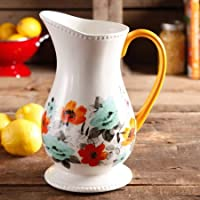 The Pioneer Woman Flea Market 2-Quart Decorated Floral Pitcher by