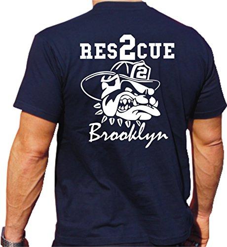 T-Shirt Rescue 2 - mit fire fighting bulldog - Brooklyn