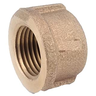 Anderson Metals Corp Inc 738108-08 Red Brass Threaded Pipe Cap