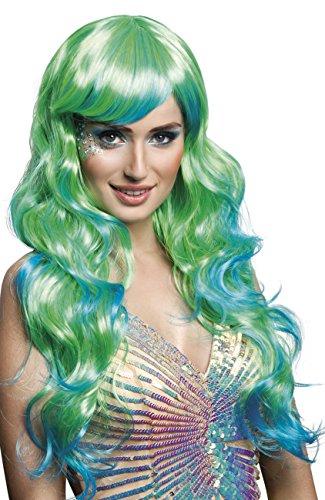Zubehör Meerjungfrau Kostüm Halloween (Boland 85742 Erwachsenenperücke
