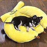 Coton banane Nest Bed Kennel Litière pour animaux chien lit nid nid petite niche ( Couleur: Moyen )