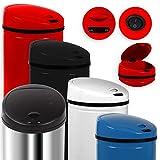 Kesser Sensor Mülleimer ✓ Automatik ✓ Abfalleimer ✓ Abfall | EDELSTAHL | verschiedene Farben | 30 L - 50 L (40 Liter, 40 Liter Weiß)